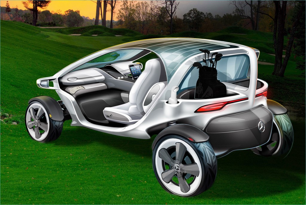 Introducing the mercedes luxury golf cart wall street nation for Mercedes benz garia golf cart price